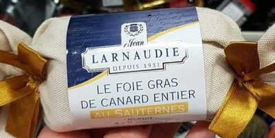 Foie gras de canard entier au Sauternes