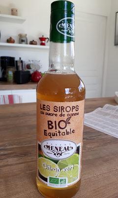 sirop au sucre de canne Bio Équitable. maison Cheneau