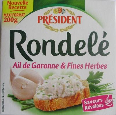 Rondelé Ail de Garonne & Fines Herbes (30 % MG)