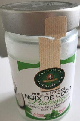 Huile vierge de noix de coco bio arome basilic