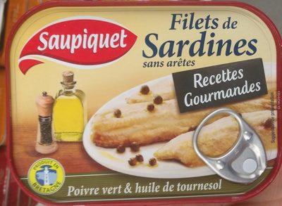 Filets de sardines poivre vert - Recettes Gourmandes