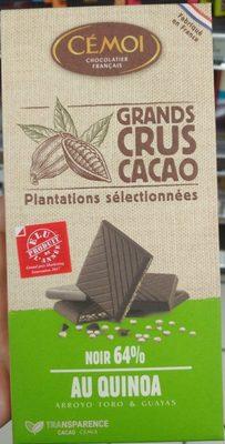 Chocolat Noir 64% de cacao au quinoa Bio