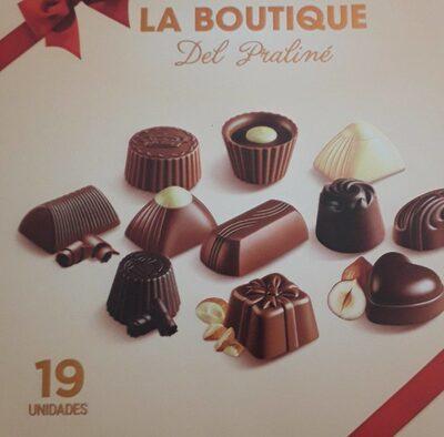 Surtido de bombones de chocolate