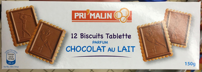 12 Biscuits Tablette parfum Chocolat au Lait