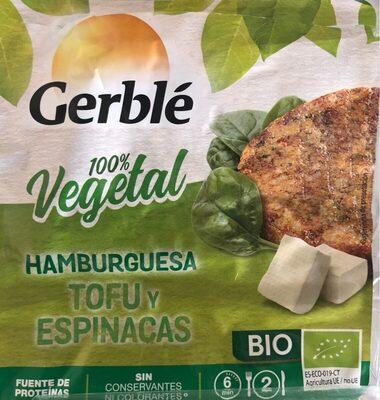 Hamburguesa Tofu y Espinacas