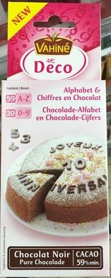 Deco Alphabet & Chiffres en Chocolat noir