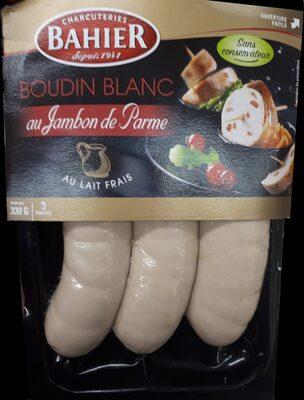 Boudin blanc au jambon de Parme