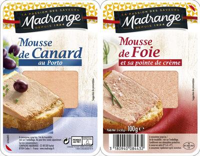 Duo Mousse de canard au porto et Mousse de foie