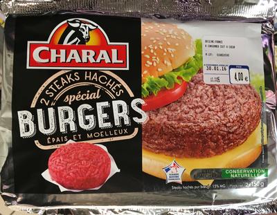2 steaks hachés spécial Burgers