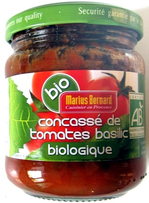 Concassé de tomates basilic biologique