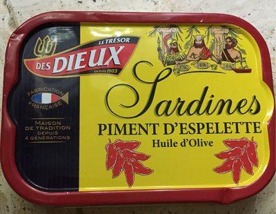 Sardines Piment d'espelette Huile d'olive
