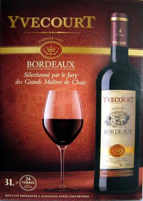 Vin Bordeaux rouge Yvecourt