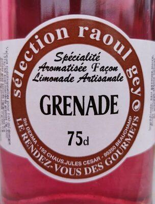 Limonade à la Grenade sélection Raoul Gey