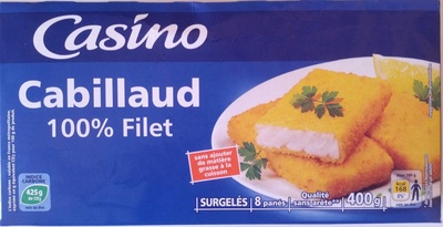 Cabillaud 4 portions panées