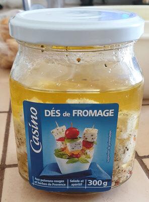 Dés de fromage aux poivrons rouges et herbes de Provence