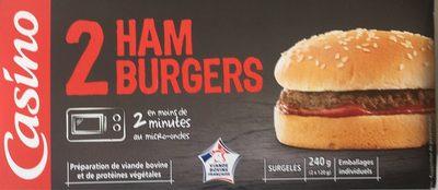 2 Hamburgers - Préparation de viande bovine et de protéines végétales