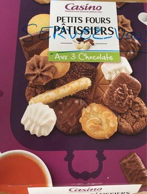 Petits fours pâtissiers aux 3 chocolats