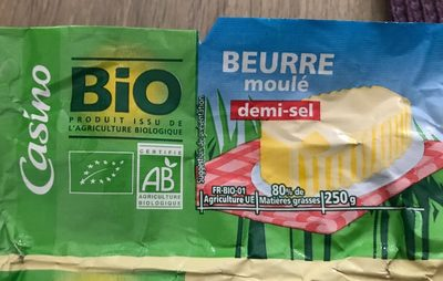 Beurre moulé demi sel BIO