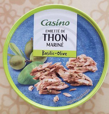 Emietté de thon mariné basilic olive