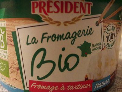 Fromage a tartiner bio president