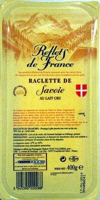 Raclette de Savoie (30% MG) au lait cru