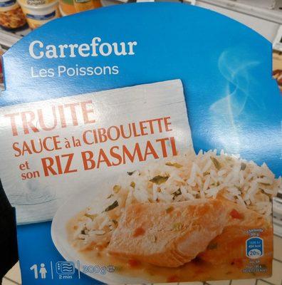 Truite sauce à la ciboulette et son riz basmati