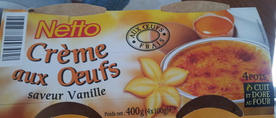 Crème aux oeufs, saveur vanille