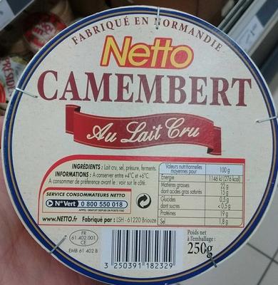 Camembert au lait cru (22% MG)