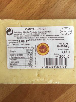 Cantal Jeune AOP