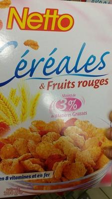 Céréales de fruits rouges