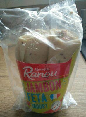 Wrap Jambon Feta sauce yaourt