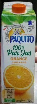 Jus d'orange sans pulpe100% pur jus