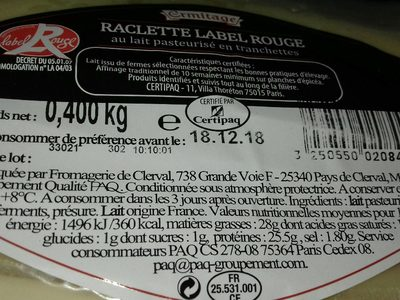 Raclette label rouge