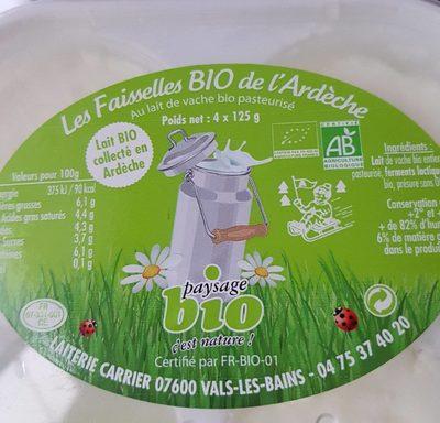 Faisselles bio de l'Ardèche