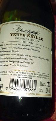Champagne Cuvée Reservée Demi-sec
