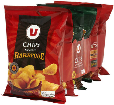 Chips arome (ketchup/moutarde/barbecue)