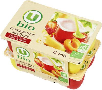 Fromage frais lait past.sucré aux fruits 5,7%mg