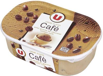 Glace au café avec grains de chocolat