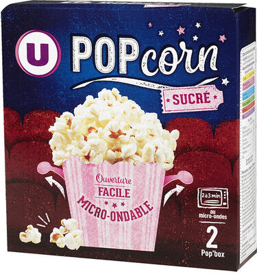 Popcorn sucré micro ondable en gobelet