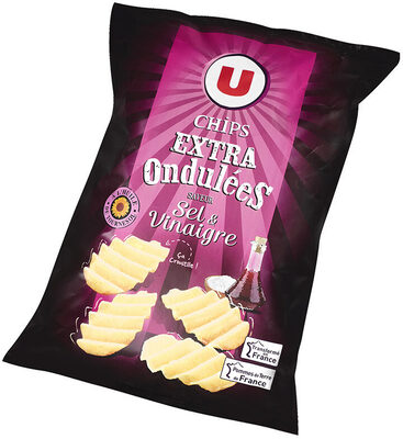 Chips extra ondulées saveur sel et vinaigre