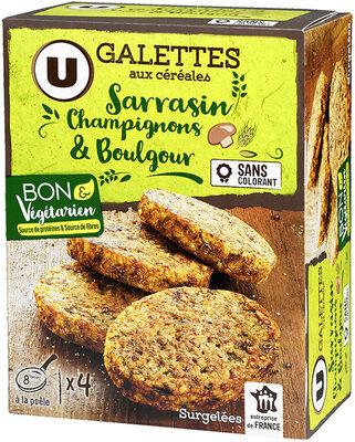 Galettes sarrasin champignon & boulgour