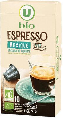 Café torréfié & mlu espresso Mexique