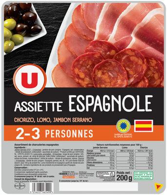 Assiette espagnole jambon serrano, lomo, chorizo