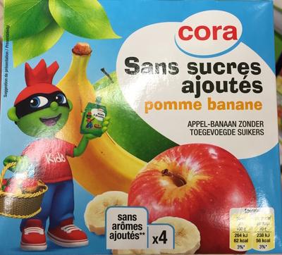 Sans sucres ajoutés, Pomme Banane (x 4)