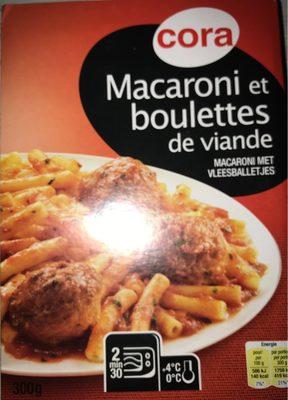 Macaroni et boulettes de viande