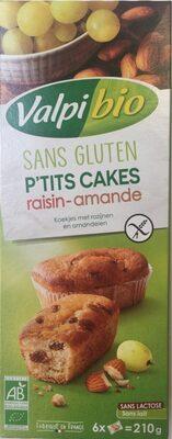 P'tits cakes raisin amande sans gluten