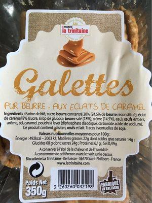Galettes pur beurre éclats de caramel