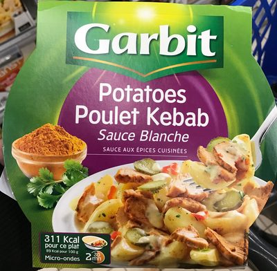 Potatoes Poulet Kebab sauce Blanche