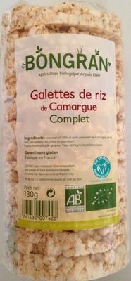 Galettes de riz de Camargue complet