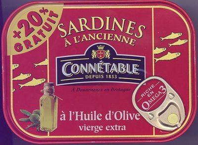 Sardines à l'Ancienne à l'Huile d'Olive vierge extra (+ 20 % Gratuit)